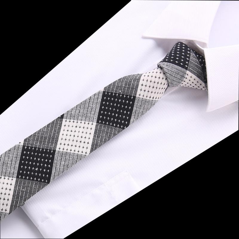 Top Grade Brand New Cotton 6cm Tie Skinny Necktie Ties For Men Wedding Suit Slim Necktie Classic Men's Tie Drop Shipping