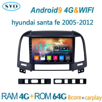 car radio for Hyundai Santa Fe 2005 2012 android autoradio GPS navigator DVD multimedia player auto audio coche stereo atoto BT image