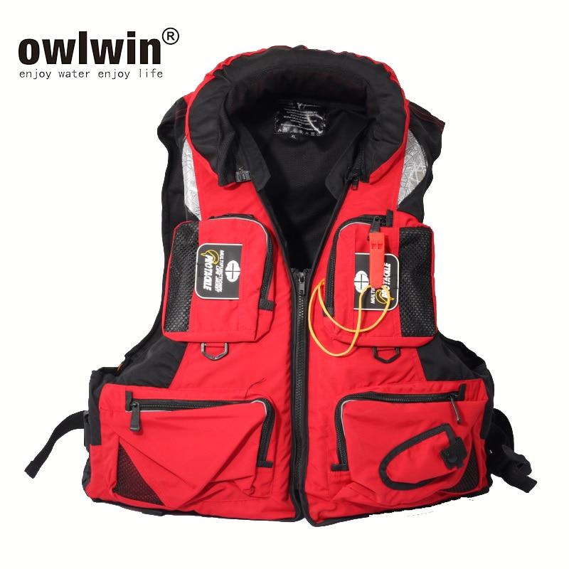 L-XXL Men Women Fishing Life Vest Outdoor Water Sports Safety Life Jacket For Boat Drifting Survival Swimwear Colete Salva-Vidas
