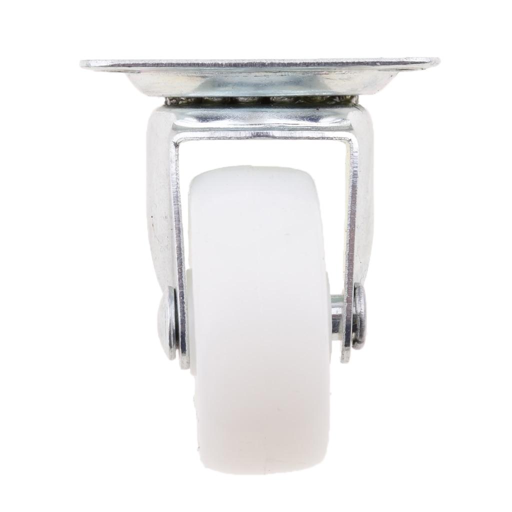 4x Durable 1.5'' PP Swivel Castor Wheels Furniture Trolley Caster White