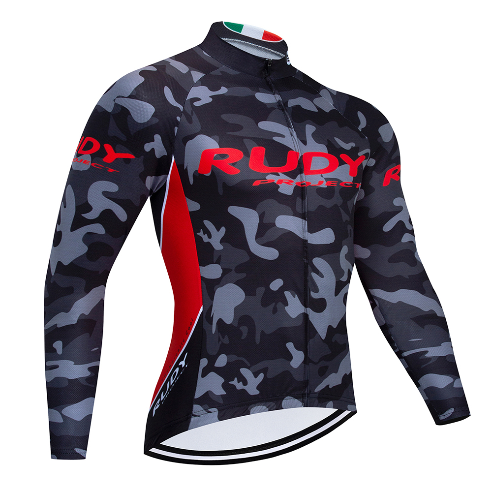RUDY New Cycling Jersey Quick dry Long Sleeve Spring Bike Mountain Road Racing Cycling Clothing Maillot Ropa Ciclismo Hombre image