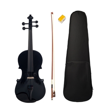 4/4 Black Maple Violin with Bass Dul Top Alloy Tail Violin