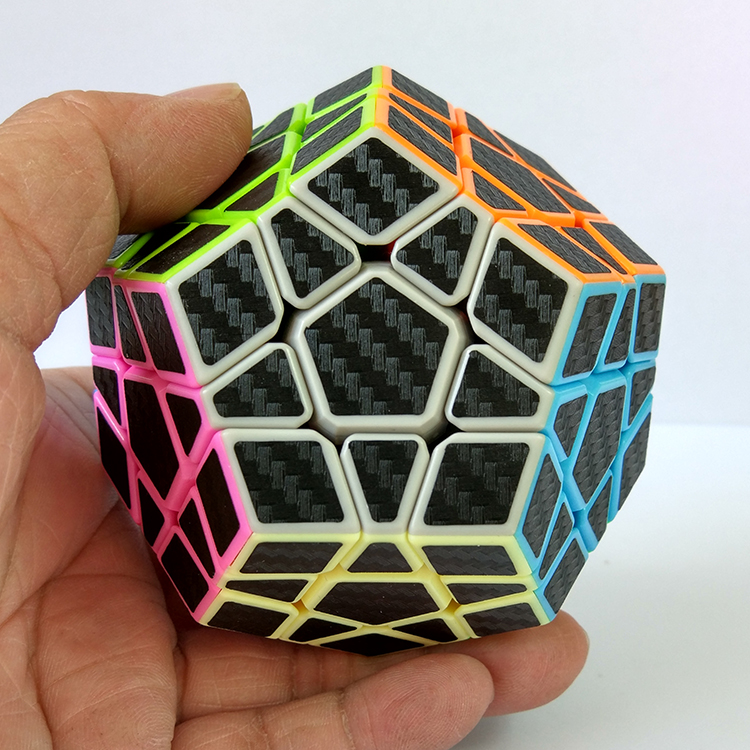 ZCUBE 3x3 Wumofang Carbon Fiber Sticker Magic Puzzle Cubo Magico Cube Brain Teaser Dodecahedron Professional Educational Toy