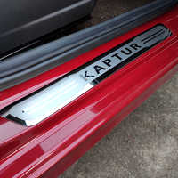 Car Accessories For Renault Captur Kaptur Door Sill Protectors Sticker Cover Auto Styling Pedal Scuff Plate 2015 2016 2017 2019