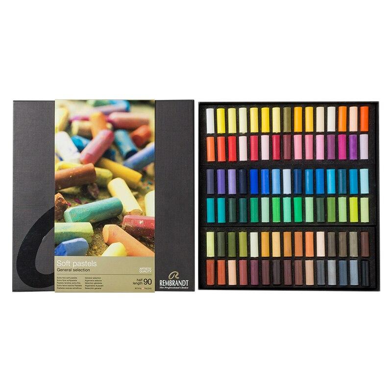 Rebrandt Color Chalk  Painted Powder Professional Set Beginner Pastel Stick Crayons Blackboard Newspaper Art Supplies Tools
