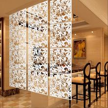 Panel-Screen Divider Flower Hanging-Room Hotel-Decoration Bird White PVC for Living 8pieces