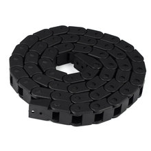 1m Transmission Chain 7x7/10x10 Plastic Towline Nylon Cable Drag Chain Wire Carrier with End Connector 18mm x 50mm r38 plastic towline cable drag chain wire carrier 102cm length for engraving cutting machine transmission chains