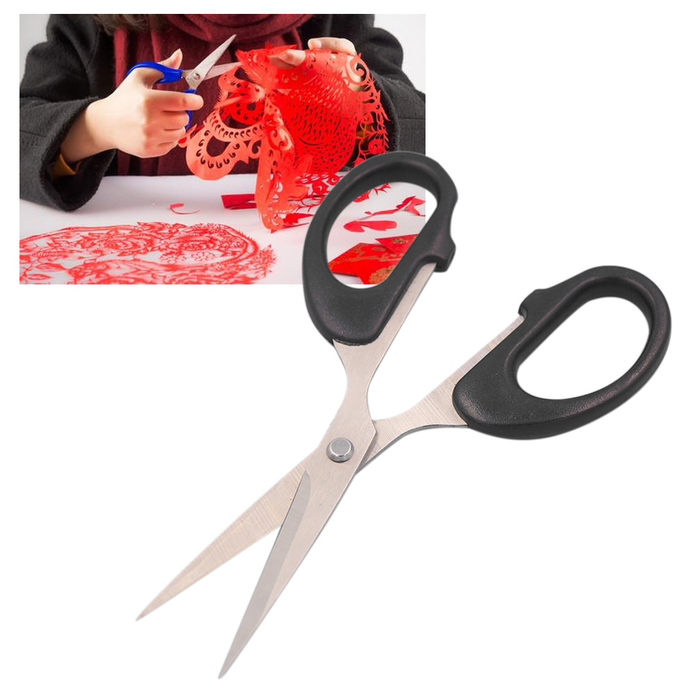 14x6.2cm Stainless Steel Manual Paper School Home Durable Craft Tools Cutting Cloth Scissors Stationery DIY For Office