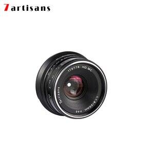 Image 5 - 7 الحرفيين 25 مللي متر f1.8 Prime عدسة لكاميرا ميلك سوني E Mount كانون EOS M مايكرو 4/3 فوجي FX كاميرات A7 A7II A7R A7S