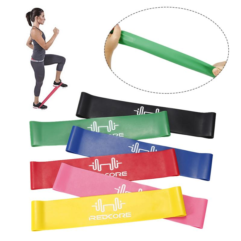 1pcs Fitness Exercise Resistance Bands 5 Colors For Sports Pilates Expander Fitness Gum Gym Workout Equipment Elastic Bands