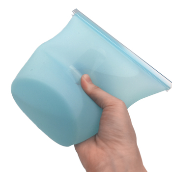 Lunch Box Food Container Portable Rice Container Dinnerware Sets Reusable Silicone Food Bag Fresh Leakproof Sealed Bags 5