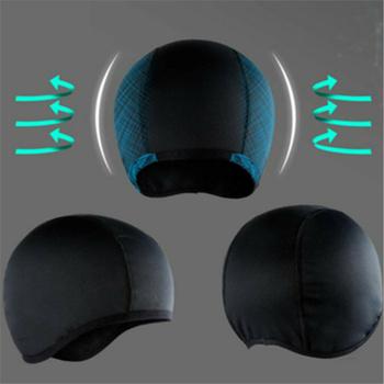 Unisex szybkie suche oddychająca czapka kask motocyklowy w wyścigowa czapka pod kask czapka czapka ochronny sprzęt akcesoria motocyklowe tanie i dobre opinie Plus size