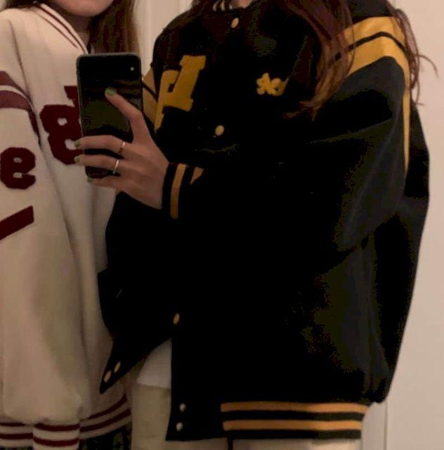 Jacket Women Jackets Oversized Baseball Punk Clothes Autumn/winter New Clothes Korean Students Thickened Plus Velvet Sweatshirt 5