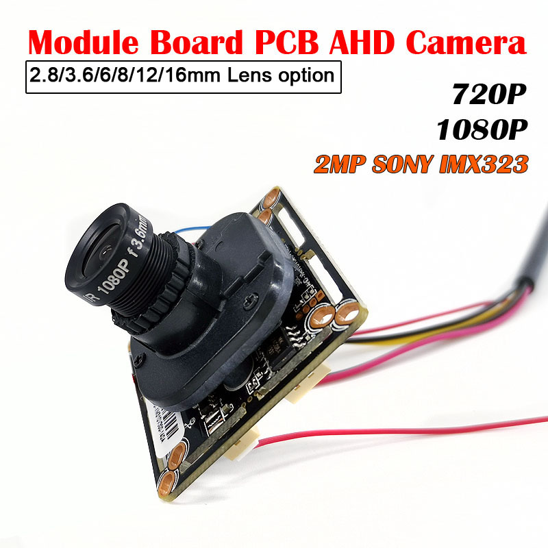 Low Illumination AHD Camera Module Board PCB SONY IMX323 2000TVL AHD HD 5MP 1080P IRCut Night Vision M12 Lens CCTV Security Came