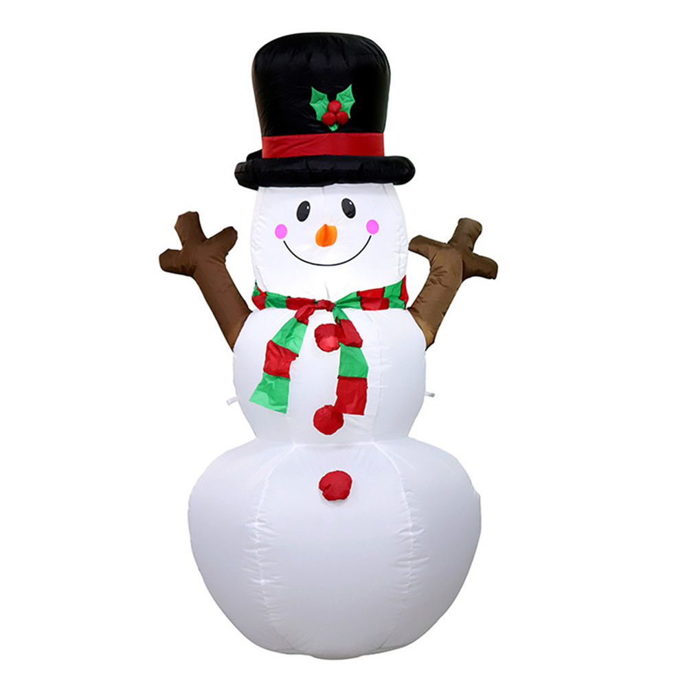 160cm Giant Snowman Inflatable Toy Santa Claus LED Lighted Christmas Halloween Playground Art Winter Party Blow Up Decoration