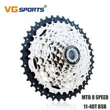 VG Sports MTB Cassette 8 Speed 40T Mountain Bike Freewheel Variable Flywheel Sprocket for Shimano Sram Velocidades