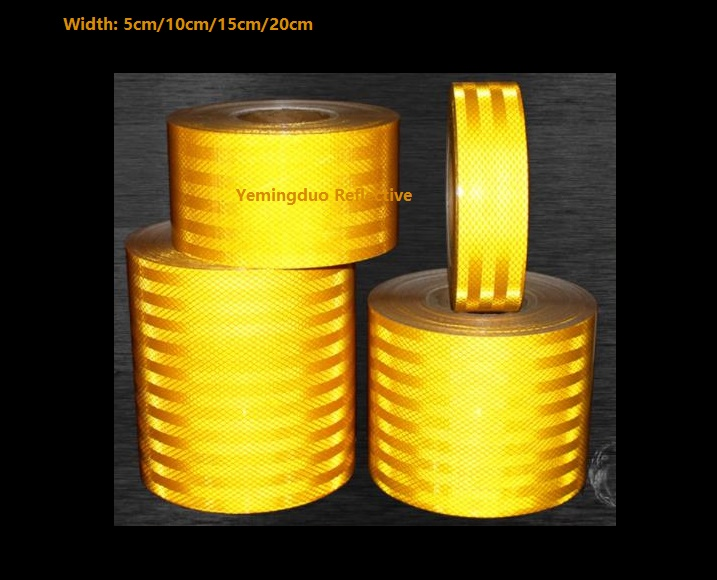 Yemingduo 10M/Roll Super Strong Reflective Decoratiive Sticker Orange Yellow Self-adhesive Tape Road Traffic Warning Sign