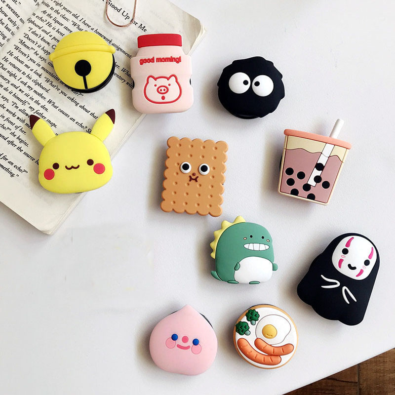 Cartoon Universal Mobile Phone Ring Holder Airbag Gasbag fold Stand Bracket Mount For iPhone XR XS Samsung Huawei Xiaomi(China)