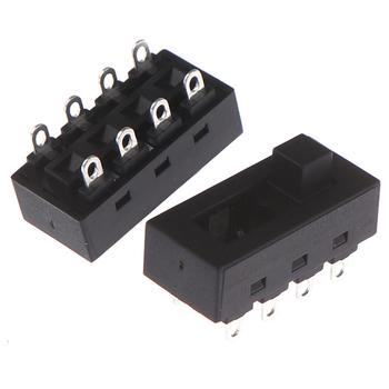 2 sztuk partia czarny 12A 250V 3 pozycja 8 Pin przełącz przełączniki suwakowe LQ-103H suszarka do włosów przełączniki tanie i dobre opinie CN (pochodzenie) 8Pin Toggle Switch
