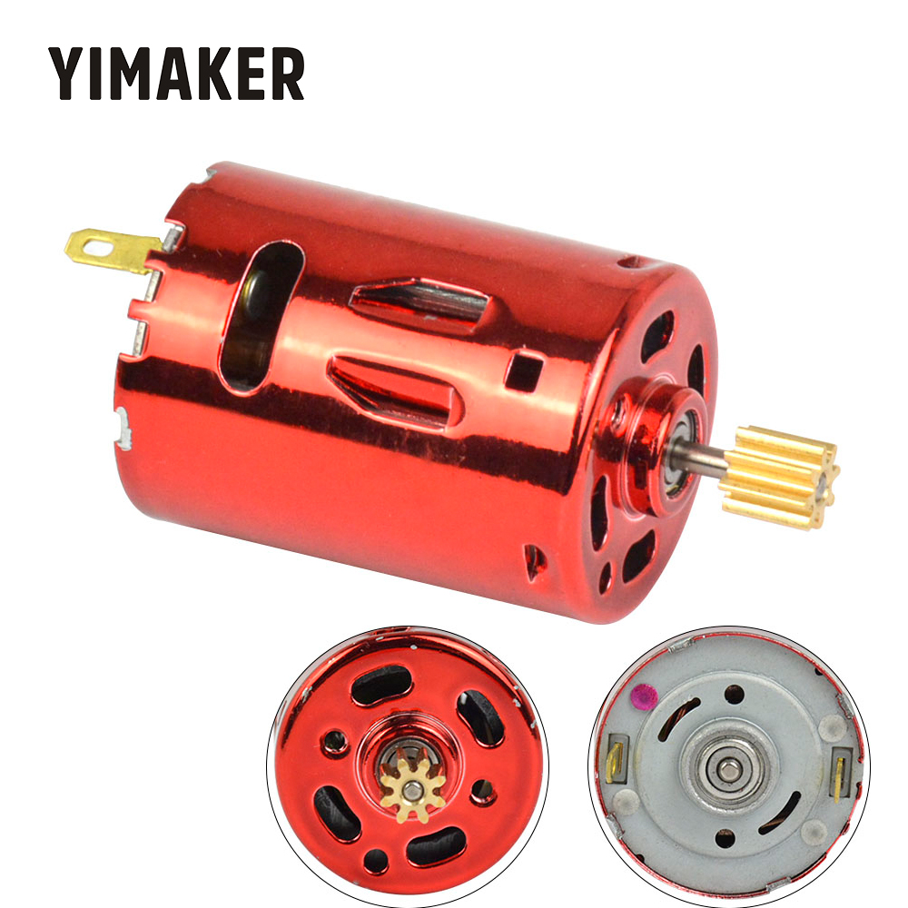 YIMAKER 7.4V 50000rpmeed 65W Red Magic High-Speed 370 DC Motor High Torque For Water Water Gun high Speed Product