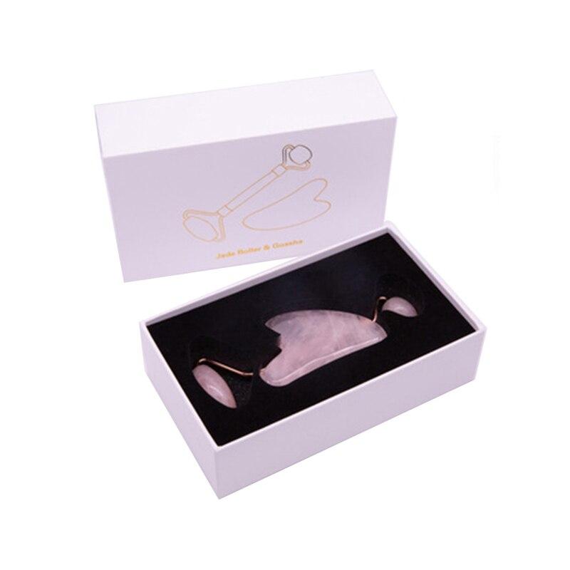 Роллер для лица из розового кварца, Нефритовый роллер, каменный массажер для лица, массажный ролик для лица, инструмент для ухода за кожей, р...