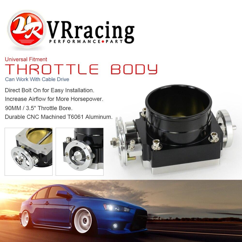 VR RACING-Nuevo 90MM rendimiento del cuerpo del acelerador colector de admisión BILLET aluminio alto flujo VR6990