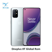 Global rom oneplus 8 t 8 t smartphone snapdragon 865 5g 6.55 ''120hz amoled display 48mp quad camera 4500 mah nfc android 11