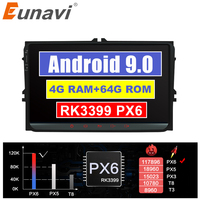 Eunavi Android 9 TDA7851 Car Radio GPS for Seat Altea Toledo VW GOLF 5 6 Polo Passat B6 CC Tiguan Touran Stereo Head unit NO DVD