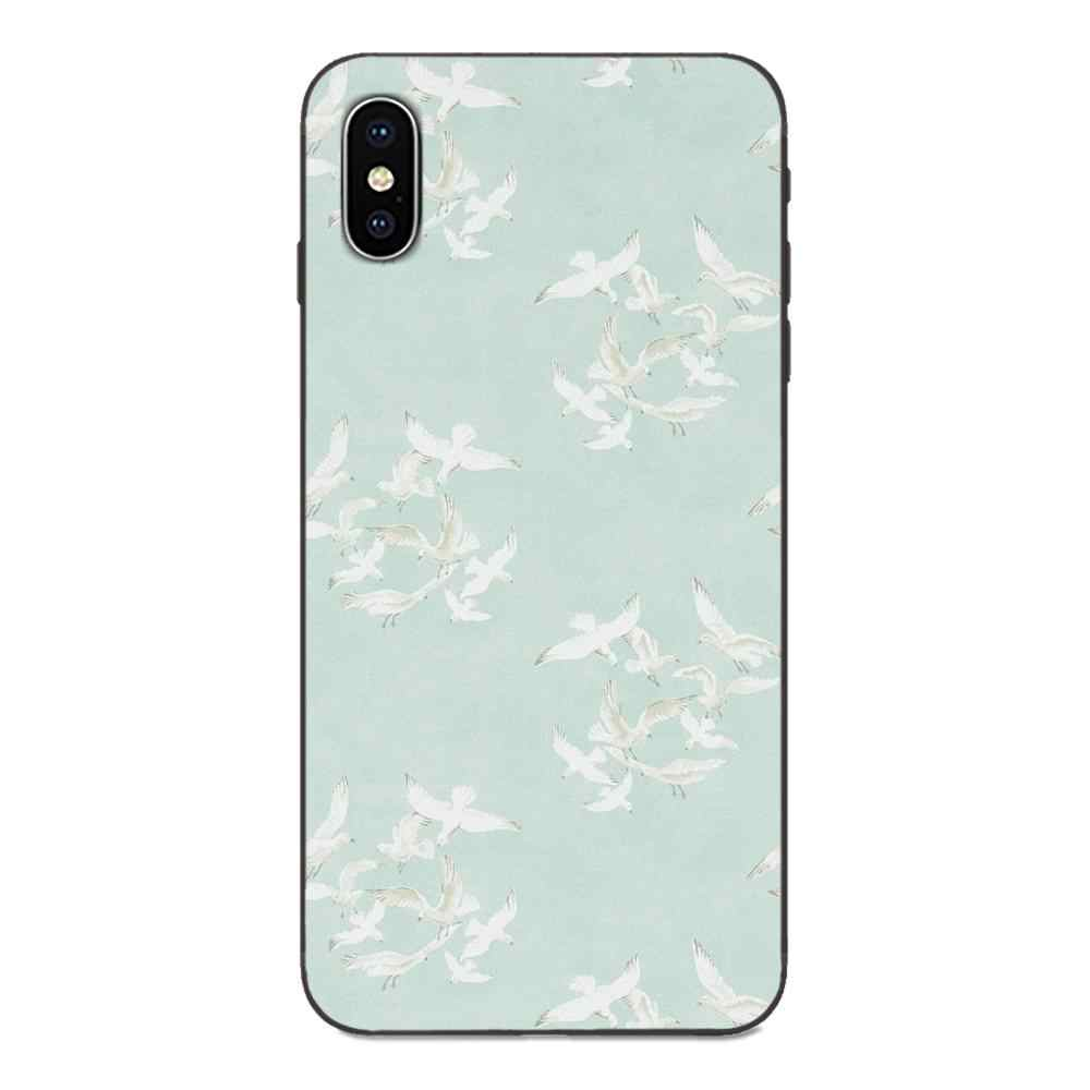 Animal Motif Hirondelle Souple coque de téléphone Pour Apple ...