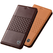 цена на Genuine Leather Flip Case With Card Slot Holder For LG G8S ThinQ/LG G8 ThinQ/LG G7 ThinQ/LG G6/LG G5/LG G4 Phone Case Stand