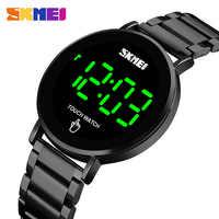 SKMEI mode hommes montre numérique mâle écran tactile lumière LED affichage 3bar étanche bracelet en acier inoxydable montre homme 1550