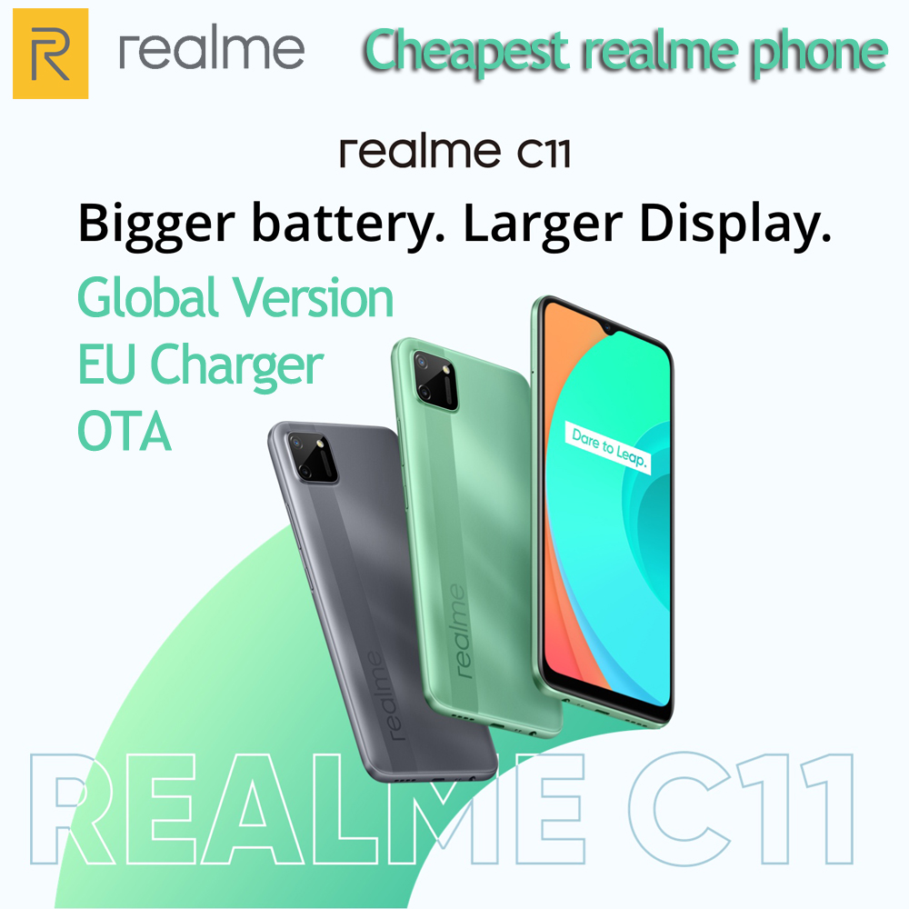 realme C11 2GB 32GB Global Version Android 10 Mobile Phone 6.5