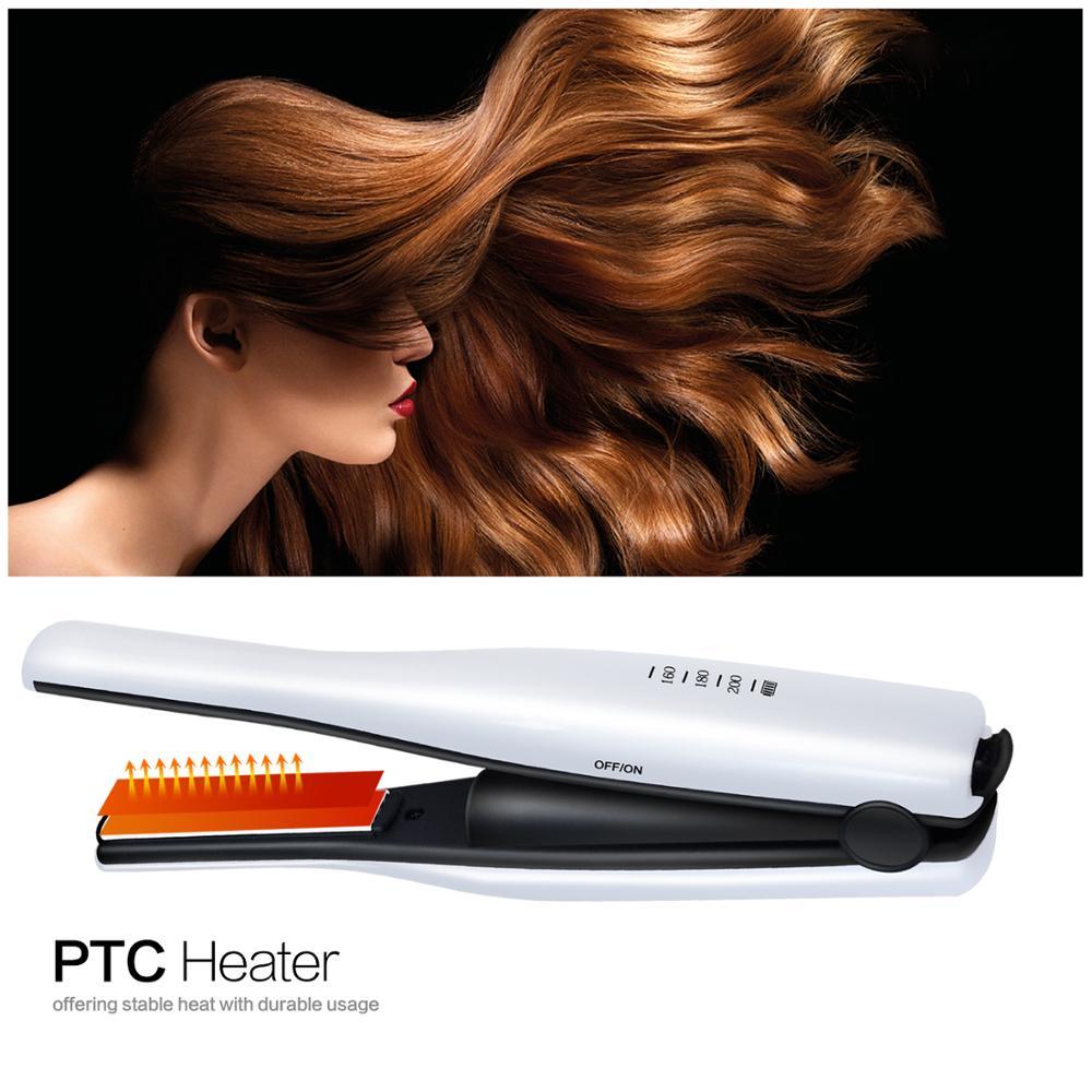 Piastra per capelli senza fili con carica USB portatile Ferri da stiro 2 in 1 Strumento per arricciare i capelli Piastra da viaggio Piastra per capelli Mini ferro da stiro