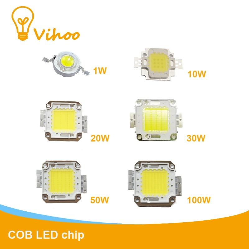 LED Chip In Light Beads Diodes Downlight 1W 10W 20W 30W 50W 100W High-Power Full-Watt Cree Integrated Spotlight Floodlights