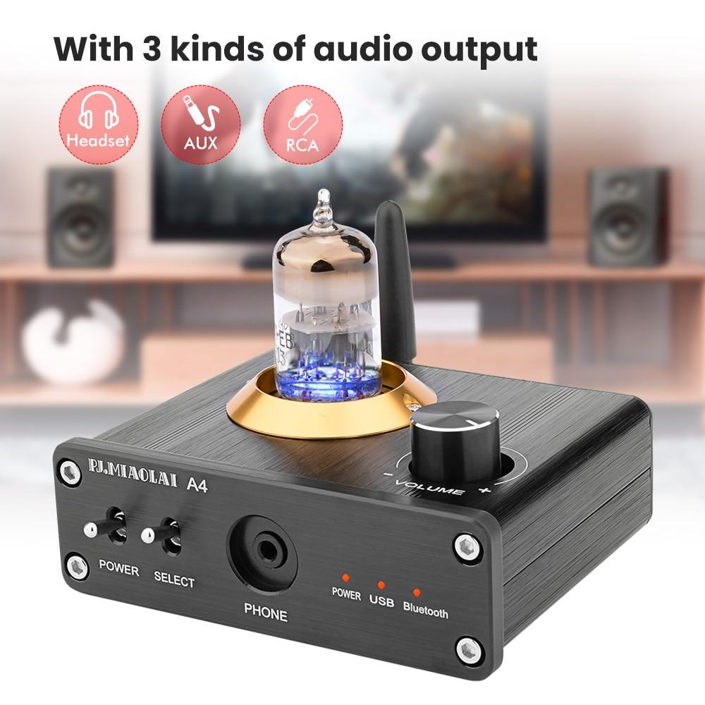 APTX Amplificador Bluetooth 5.0 Hifi USB DAC Audio Mini Amp Headphone Amplifier 6N3 Vacuum Tube Portable Earphone Amplifiers 6