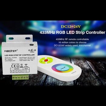 цена на 433MHz RGB LED Strip controller+RF wireless touch remote control set series DC12V~24V for RGB led strip light