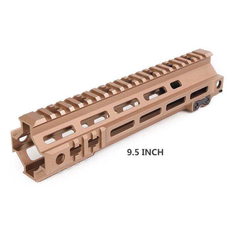 7 9.5 Inch Handguard Rail BK/OD/DE 3 Colors CNC Aluminum M-LOK Hunting Accessories For M4 AEG Handguard Mouth Hunting Free Float