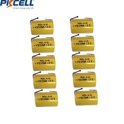 4/8/10PC PKCELL 4/5 SC Batteries 1.2V NICD Rechargeable Battery 1200mAh with welding tabs 4/5 SubC battery for electric tools