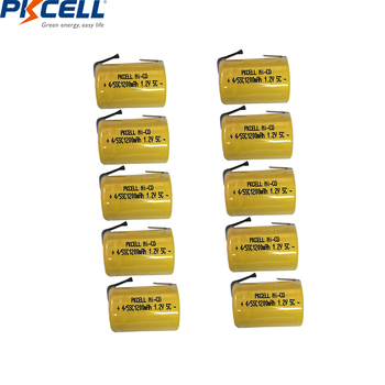 4/8/10PC PKCELL 4/5 SC Batteries 1.2V NICD Rechargeable Battery 1200mAh with welding tabs 4/5 SubC battery for electric tools image