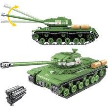 1068 pcs wojskowy IS 2M czołg ciężki żołnierz broń klocki pasuje do LegoING Technic WW2 zbiornik cegieł armii 100062 zabawki dla dzieci prezenty