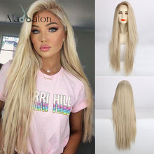 ALAN EATON Synthetic Lace Wig Long Silk Straight Lace Front Wig