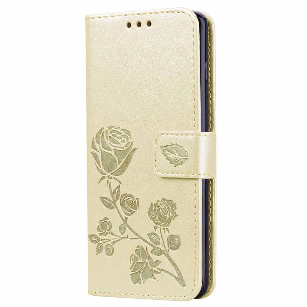 Funda de cuero con flores 3D KISSCASE para Xiaomi A1 funda Pocophone F1 GO Coque para Redmi 4X 4A 6A Note6 Pro y1 nota 5A 5 Plus 6 Pro 3S