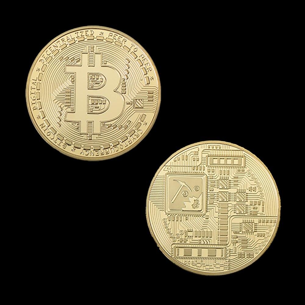 Gold Plated Bitcoin Coin Collectible Art Collection Gift Physical Commemorative Casascius Bit Btc Metal Antique Imitation Super Discount 1851 Cicig