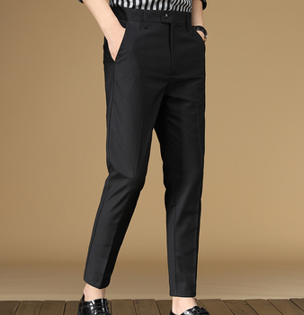 Pants Four Seasons Youth Seven-color Casual Pants Men's Foreign Trade Korean Version High-end Office Nine-point Pants Men