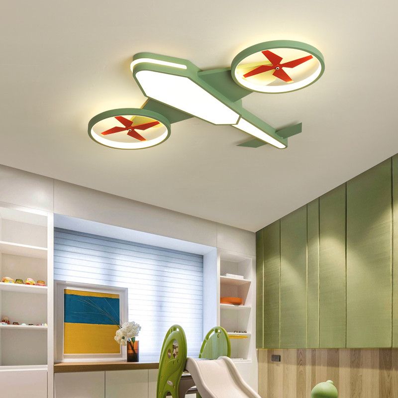 Fashion Chile Baby Girls Boys Children Room Kids Bedroom Light Ceiling Airplane For Nursery Lamp