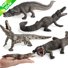 Original Genuine Wild Savage Reptiles Crocodile Action Figures Ocean Animals Collection & Educational Toys For Kids