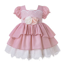 Pettigirl Wholesale Boutique Summer Brithday Party Baby Girl Flower Dress With Headband G DMGD203 D63