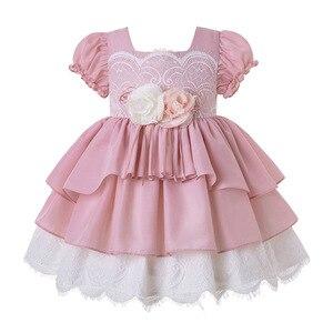 Image 1 - Pettigirl, venta al por mayor, Boutique de verano, fiesta de cumpleaños, vestido de flores para niña bebé con diadema, G DMGD203 D63