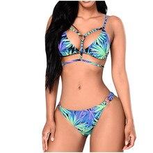 Fashion Women Summer Bikini Set Two Pieces Women's Print Split High Waist Plus Size Swimwear Beachwear Micro Bikini#3
