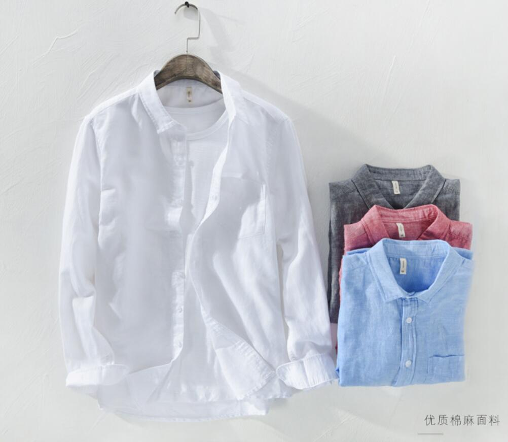 2020 New Velvet Thick Casual Long-sleeved Shirt Autumn A Winter Men Shirt Ay401-422